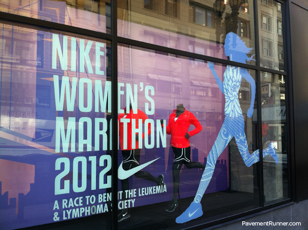 Nike Womens Marathon Window Decal Used To Promote Leukemia And - Window decals for business atlanta