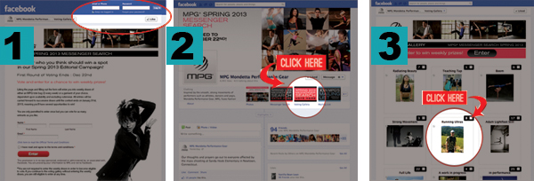 1. Click link, log into FB. 2. Click the Voting Gallery image. 3. Find ME!