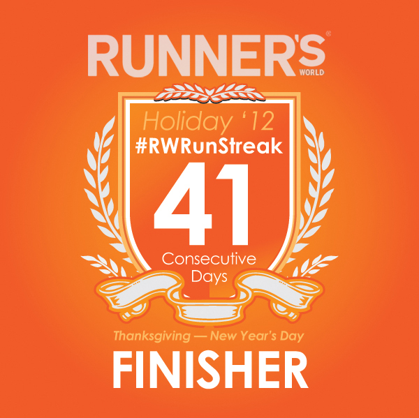 rwrunstreak 2012 runner's world badge