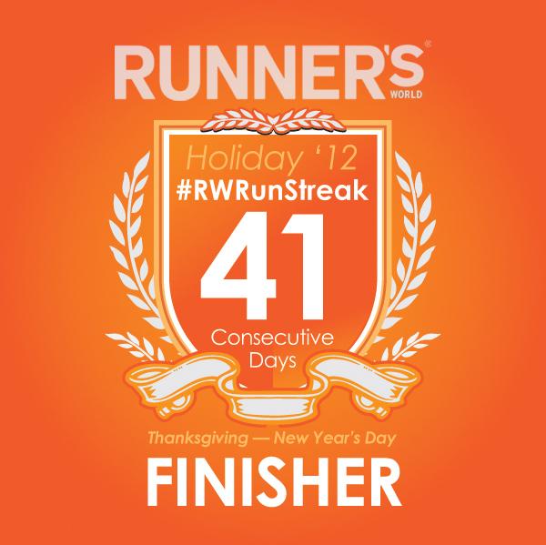 rwrunstreak 2012 runner's world badge