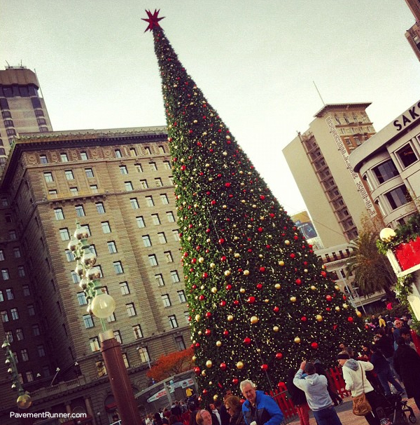 Christmas Tree at Union Square in San Francisco.