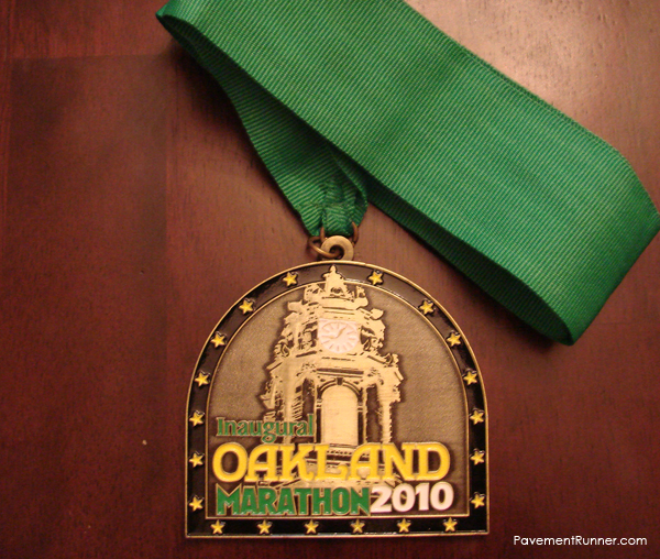 Finisher's Medal. Full Marathon (2010)