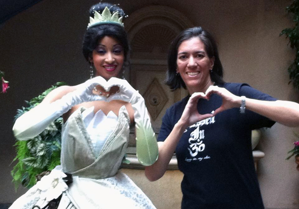 Princess Tiana and I sending you Lots of Love and Courage from the Happiest Place on Earth! Christine, oatmealinmybowl.com