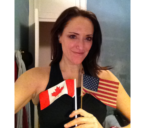 Showing my Canadian and American love over my heart for Krysten! Margo, brooklynfitchick