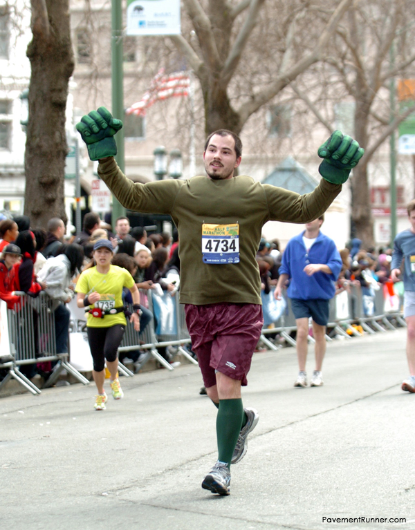 Oakland Half Marathon, dressed as the Incredible Hulk (2011)