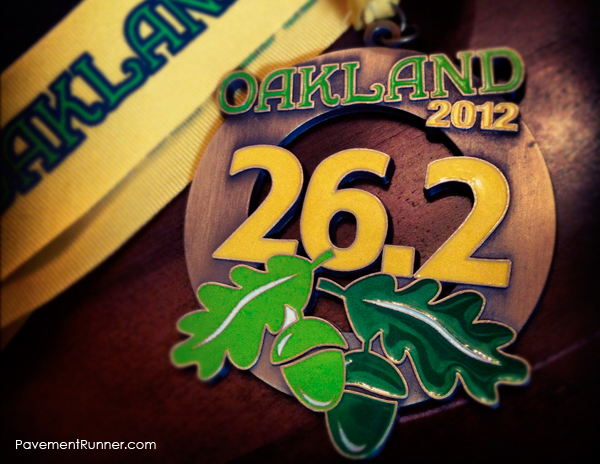 Full Marathon Finisher's Medal (2012)