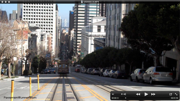 Here was my decent. Also has a direct view of the Bay Bridge. (See the Cable Car?)