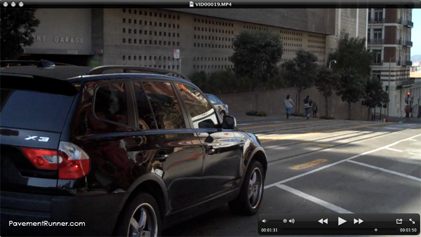 And that's the car that almost hit me as I was video taping. Yep, I risk my life for this blog.
