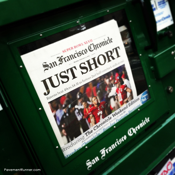 Here is the cover of the San Francisco Chronicle.