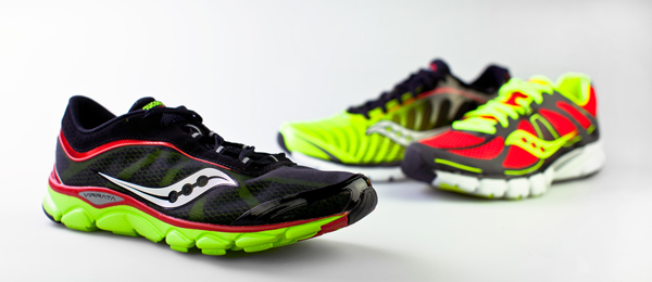 The Saucony Natural shoe series (Virrata, Mirage, Kinvara).