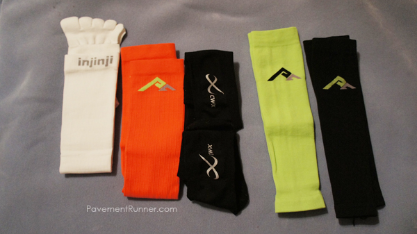 (L to R) Injini, Compression Socks, CWX Socks, Compression Calf Sleeves (2)