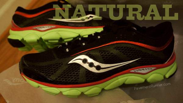 Saucony Virrata - the latest in the natural shoe series.