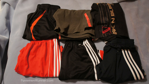 (L to R) New Balance, Mondetta Performance Gear, Ink n Burn, Adidas