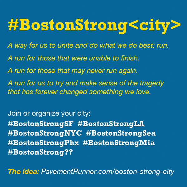 Pin, share, instagram, RT — join or organize your city by doing what we do best: RUN