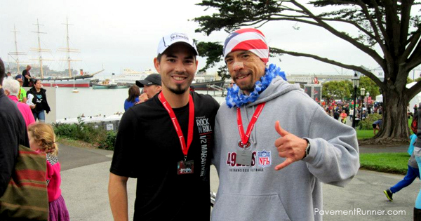 Me and my buddy Brian at another race 2 weeks after Oakland.