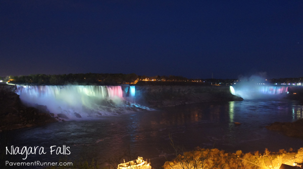 Did you know that they light the falls at night? Pretty cool, huh?