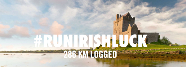 Share your Nike+ run with hash #runirishluck for a chance to win a running trip to Ireland.