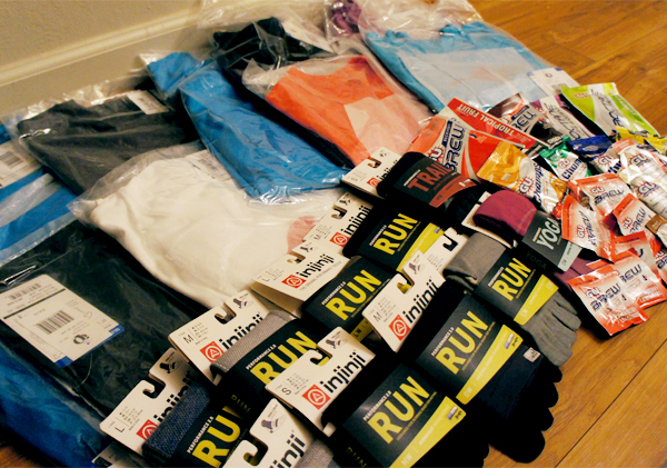 Shout out to Pearl Izumi, Injinii, GU Energy and Outside PR for supplying all this fun gear to give away.