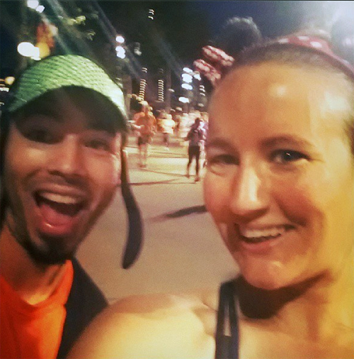 Just like the day before, came across @MealsAndMiles in the first couple miles, this time grabbed a pic.