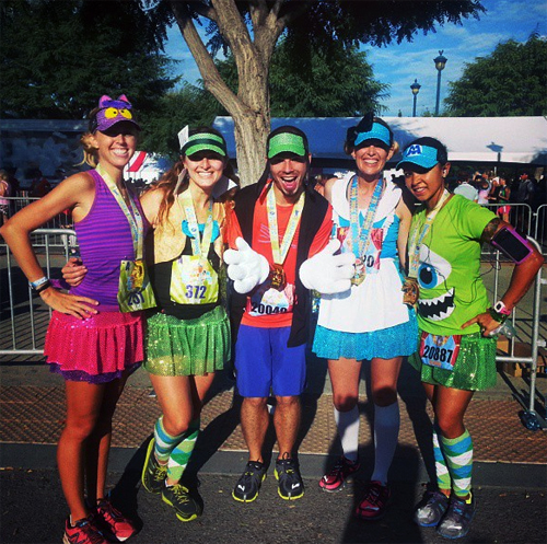With the @SparkleAthletic Team - they look amazing with their Alice in Wonderland theme.