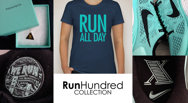 Limited Edition RUN ALL DAY shirt – only 100 will be made with the signature blue. Order here.