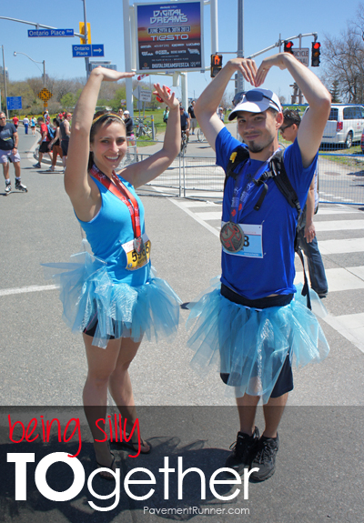 Me and Krysten at the finish line of the Toronto Marathon