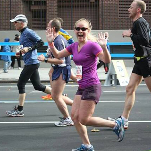 Running Bun captured my excitement around mile 19 at the 2013 ING New York City Marathon. — http://www.crazyrunninggirl.com
