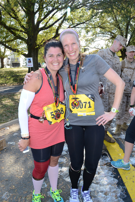 One of my favorite moments of 2013 combined running and friendship, the good and the bad.  I was able to help my friend complete her first marathon, and while it wasn't quite what either of us had imagined we stuck together to guarantee that she pushed through and became a marathoner.  — backatsquarezero.com