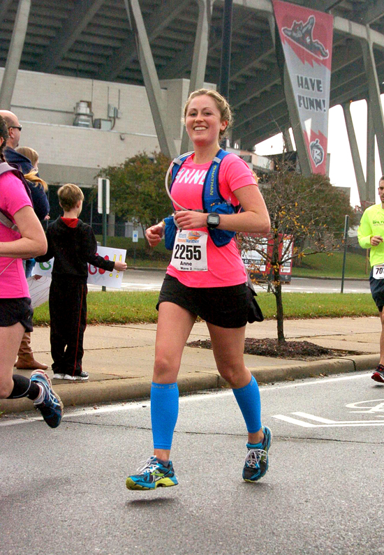 This is my favorite photo from 2013 - it's me around mile 19 of my very first full marathon - the Richmond Marathon in November! — http://www.fannetasticfood.com/