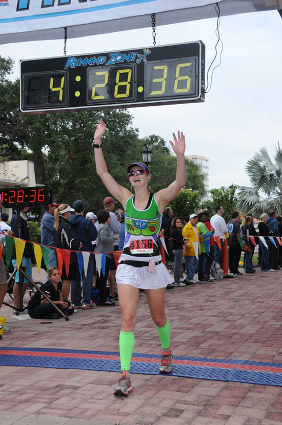 I love this photo because it captures my 1st marathon finish in 7 years. — http://www.fit2flex.com