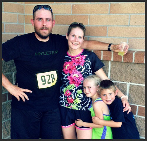 I love this one because my whole family just finished a race together. I love being active with my husband and kids! —  http://FitBetty.com