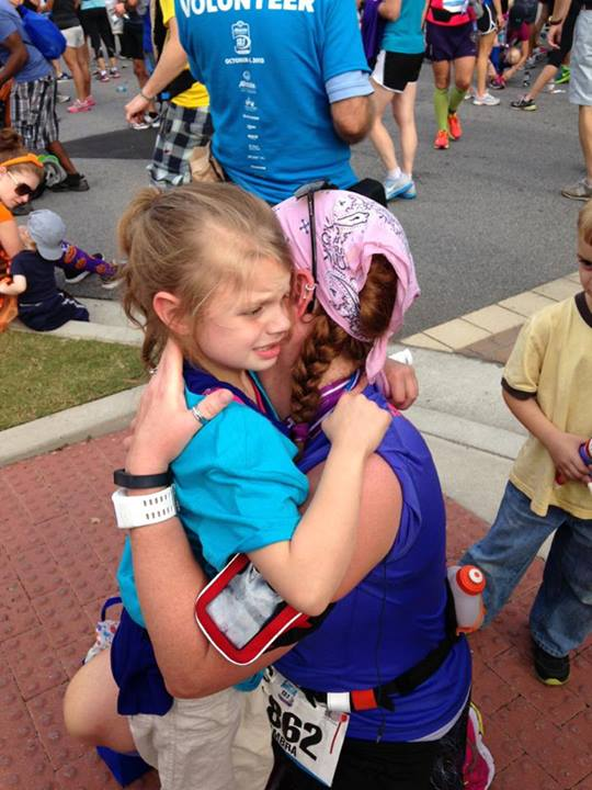 I met my I Run4 match Carly and her family when I ran the Allstate Atlanta 13.1 Marathon.  She has multiple chromosome issues in addition to Autism.  This was a very emotional race for me that I will always remember.  Blog — http://gingermantra.com