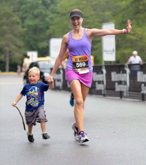 Proudest Mother Runner moment of the year - Crossing the finish line of a race with my son! — http://happyfitmama.com/