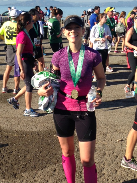 At the finish line for the Berkeley Half Marathon - a special moment because I was able to get a 13.1 PR fresh off my Nike Women's 26.2 PR...all made possible by the support, friendship & guidance of some great new running buddies! — http://kineticfix.com