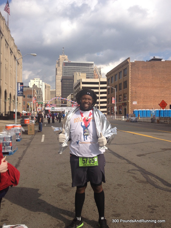 In 2013 I wanted to run my first marathon...I finished it in 6:46:30. That's what you call a CRUSHED GOAL! http://300poundsandrunning.com/