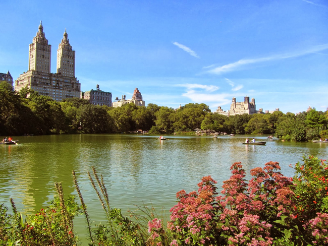 I went to NYC for the US Open, and ran in Central Park a couple times.  I had no idea how gorgeous the park was in places. — http://nellyontherun.blogspot.com/