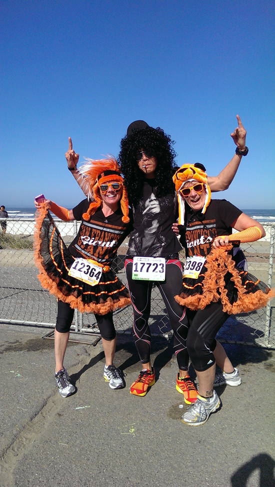 Felt like a rockstar with the Giants' ladies. #BaytoBreakers - plong ortaliz
