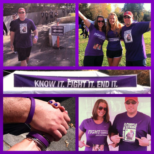 Know it, Fight it, End it-Pancreatic Cancer. Purple Stride Event ,San Jose. Honored to meet Julie , The Marathon Goddess #WeGotThis — Runningandwine.com