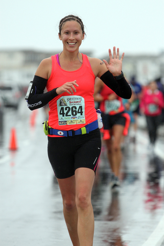 Mile 11 of my first half marathon... So happy to be close to the finish! — http://www.shoelacesandbibs.com/