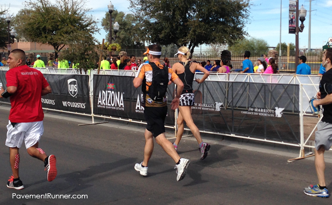 Final stretch — two runners, perfectly in sync. Seriously, look at our form. #mirrors (ignore my awkward foot strike)