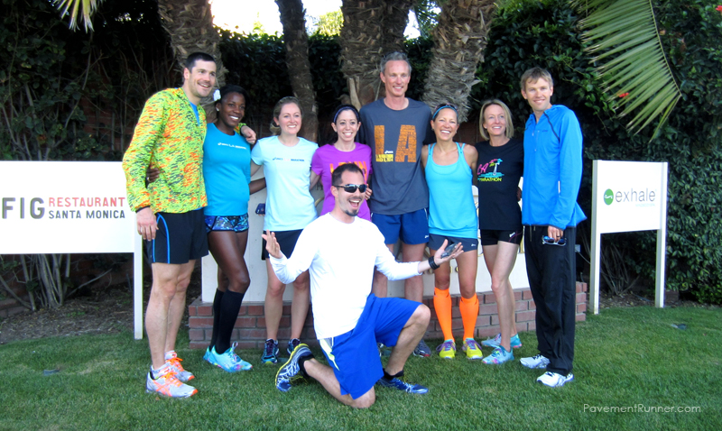 (L-R) Andy Potts, Alysia Montano, Anne, Michele, Adrew Kastor, Kristin, Deena Kastor, Ryan Hall (and me!)