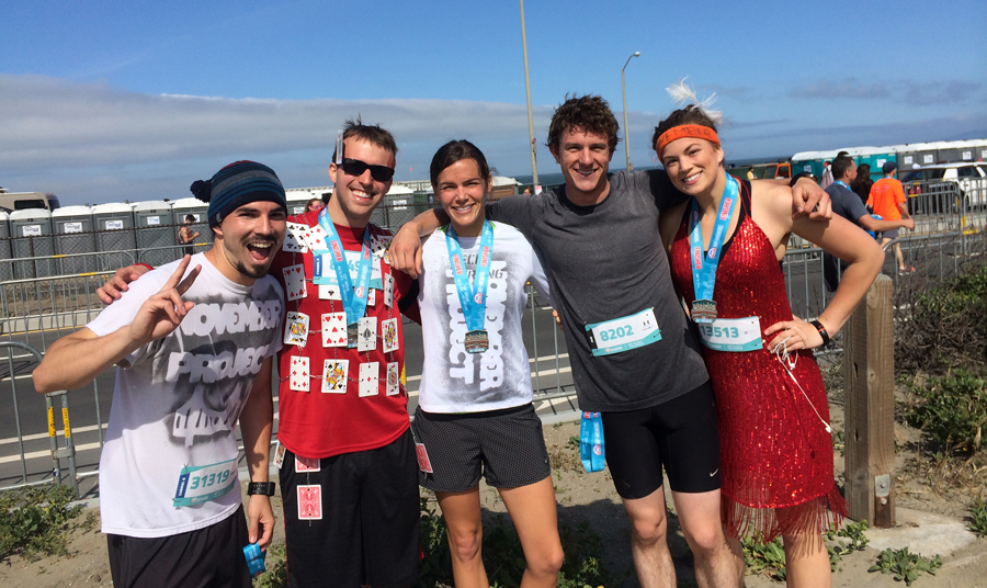 Finish line photo with some SF November Project peeps