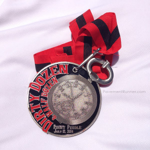 Finisher's medal — it's a stop watch!