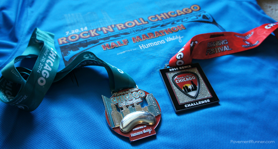 Half Marathon medal and 2014 Remix Challenge medal (for running 5K & Half)