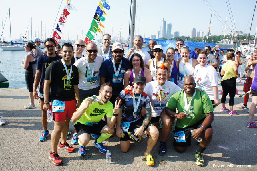 With the SA2LV crew showing off our bling - I think all of us were running the half the next day as well.