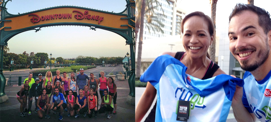 Group photo and RunGo tech shirt for the Birthday Girl, Melissa.
