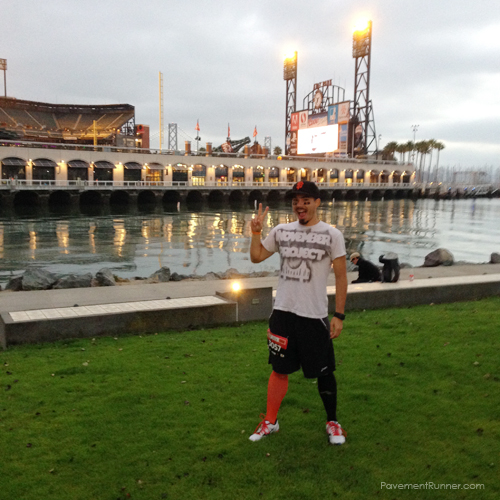 Orange and Black PRO Compression socks - and the Giants EYE BLACK was huge success.