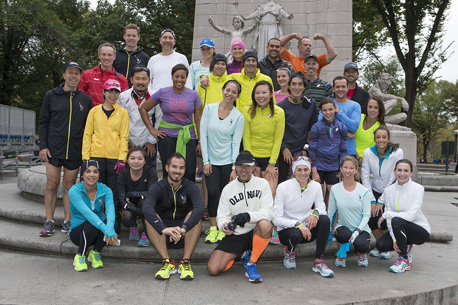 Post-shakeout run photo at Central Park.