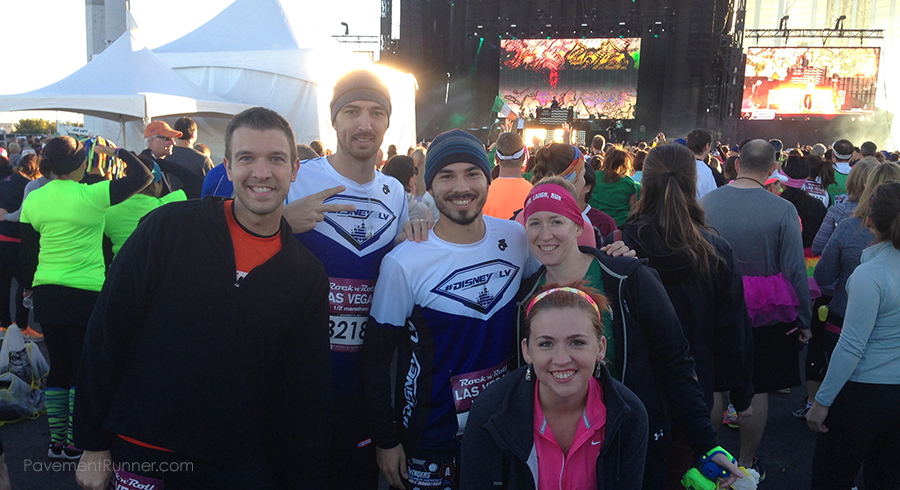 With @runner_blogger_az, @pointonemiles, @enjoyingthecourse and @nevierunsraces — and Macklemore & Ryan Lewis on stage