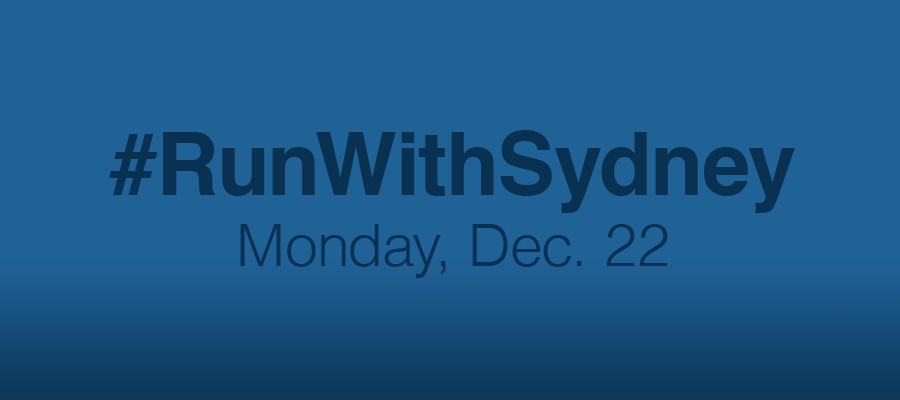 #RunWithSydney – Monday, Dec 22